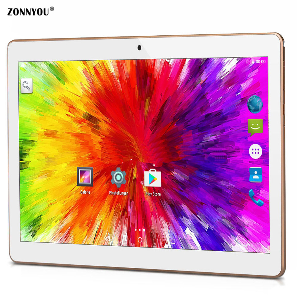 10.1 Inch Tablet PC 3G Dual SIM Call phone Tablets PC Android 6.0 Quad Core IPS 2GB Ram 32GB Rom Wifi GPS Tablets PC 10 1 inch new tablet pc 3g call eight core fingerprint identifi cation android system 2gb 32gb rom bluetooth wifi
