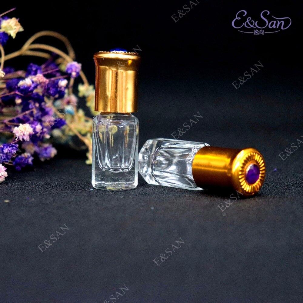 Wholesale 3ml Octagonal Roll On Perfume Glass Bottle Min Bottling 100pcs lot