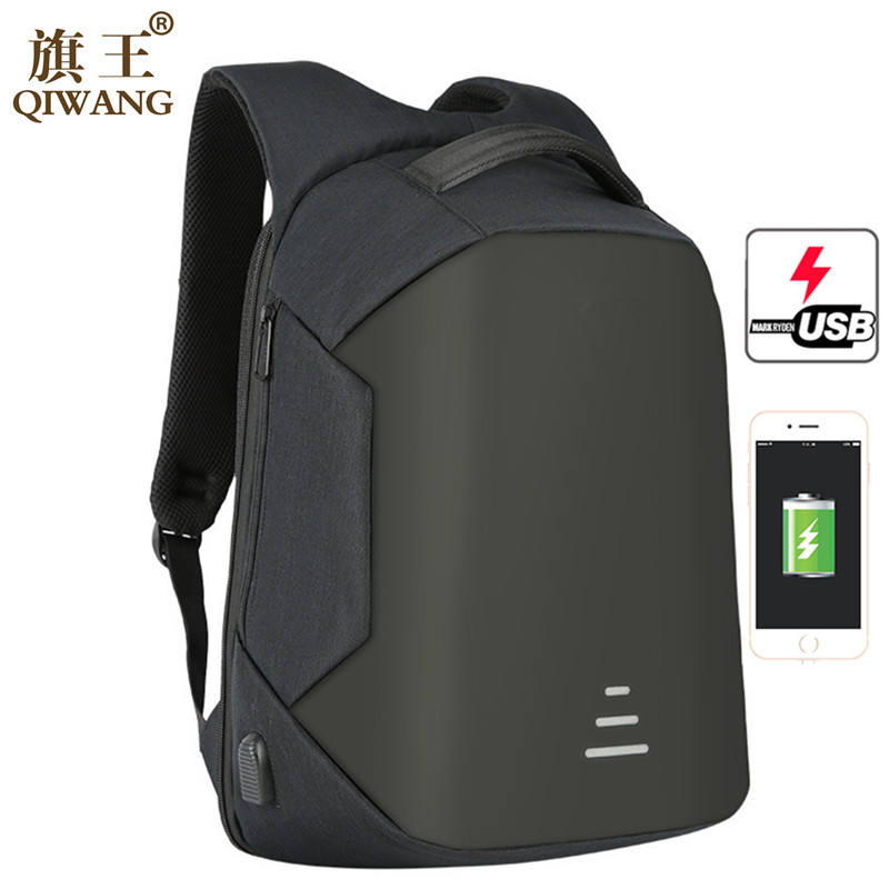 Qi Wang Laptop Backpack for Men Anti Theft Laptop Backpack Waterproof USB Charging Design School Backpack for Teenagers bopai brand backpack usb charging backpack laptop shoulders anti theft usb backpack 15 inch laptop backpack men waterproof