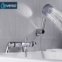 EVERSO Bathroom Shower Faucet Brass Bathtub Faucet With Handheld Shower Hot And Cold Water Mixer Tap
