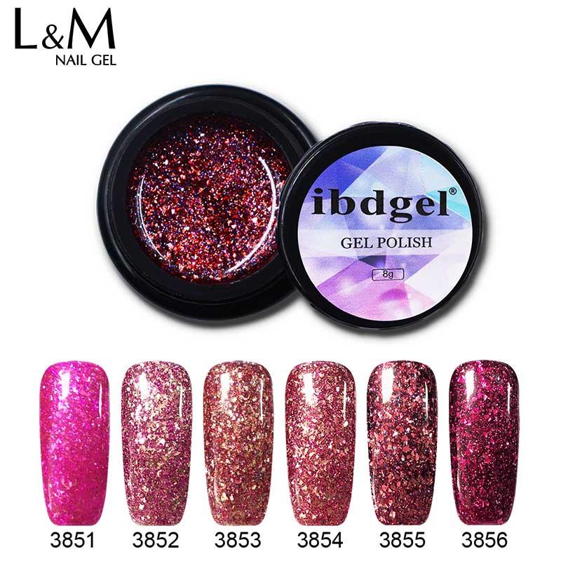 Ibdgel 3 Pcs Gel Nail Polish Platinum Gel Nail Varnish