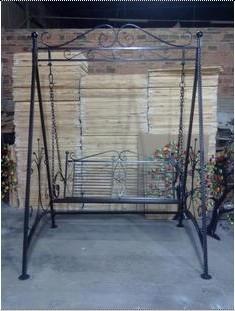 Iron Flower Stand Outdoor Swing Rocking Chair Iron Swing Rocking