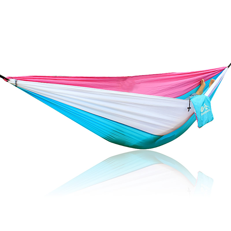 White Blue Pink Hammock 260*140cm Outdoor Furniture Loading 300KG
