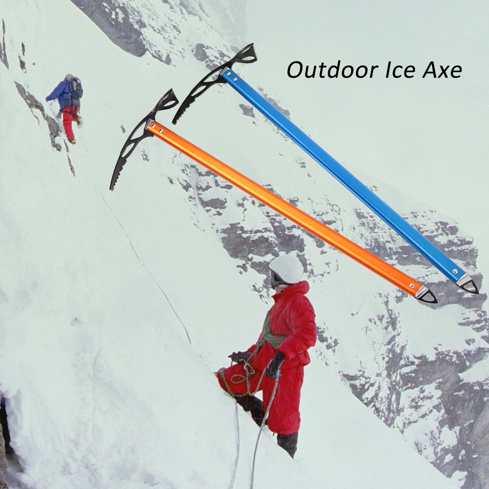 Outdoor Camping Aluminum Design Ice Axe Lightweight Anodized Self Arrest for Hiking Glacier Snowy Snowbank Ice