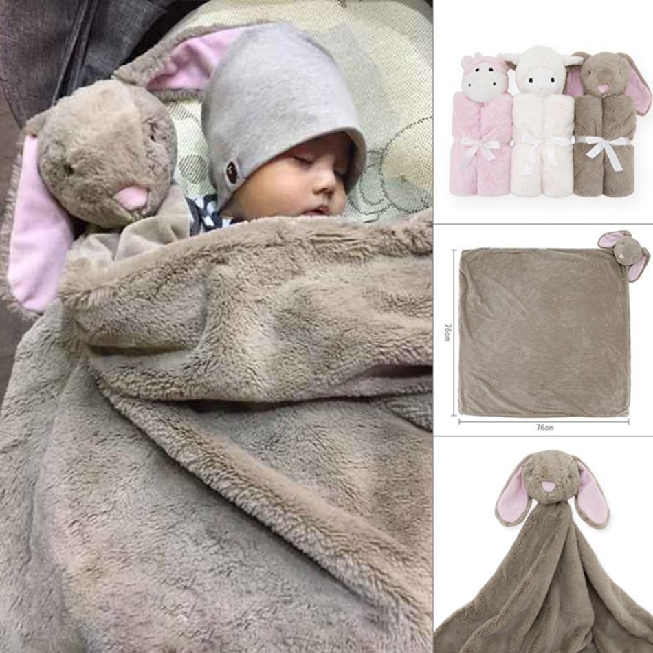 Aliexpress : Buy Kavkas Coral Fleece Plush Baby Bedding 76x76cm Animal  Toy Head Winter Baby Birthday Gift Newborn Soft Warm Blanket Swadding From