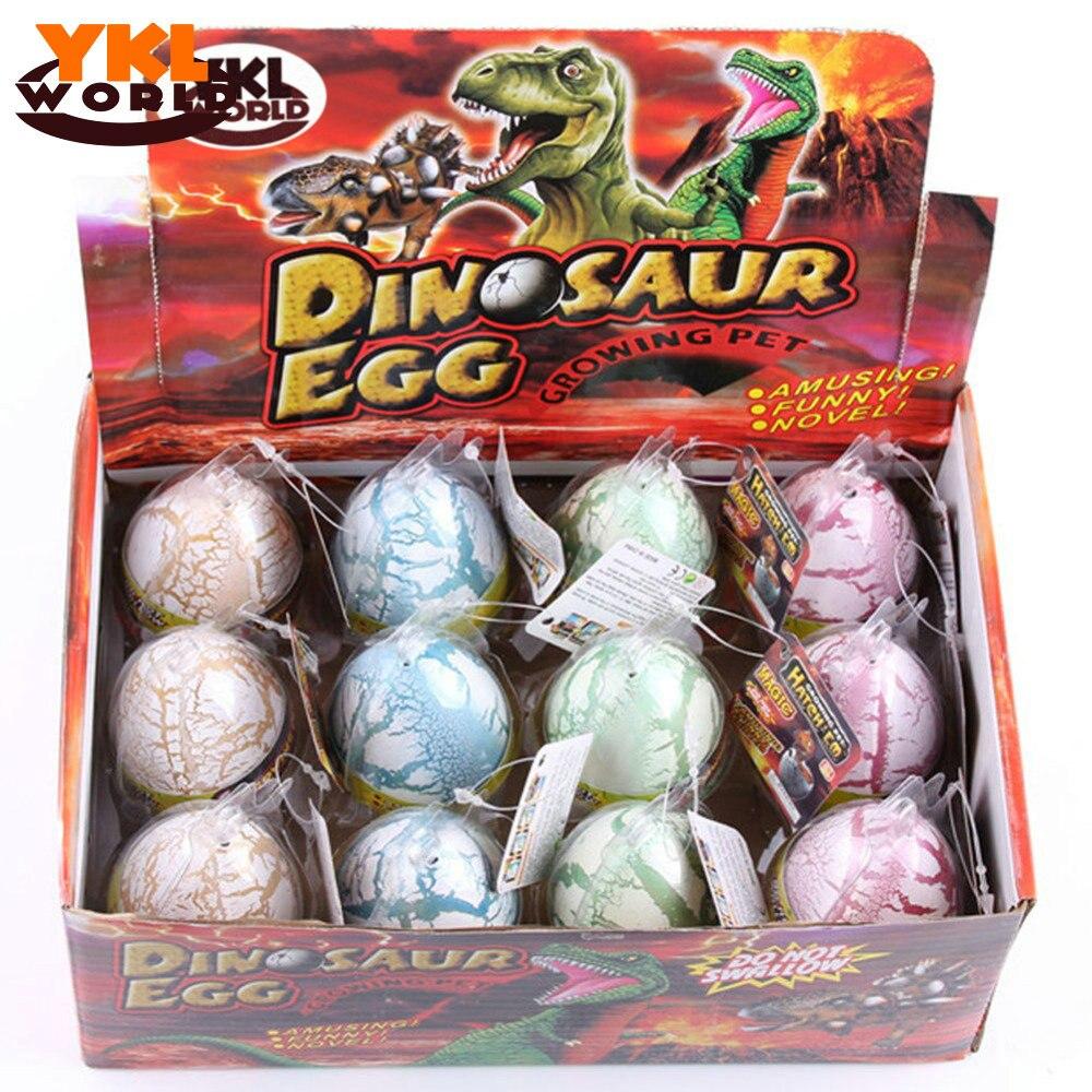 YKLWorld 12pcs/set White Fun Water Hatching Inflation Dinosaur Egg Watercolor Cracks Grow Egg Educational Toys Interest Gift -48