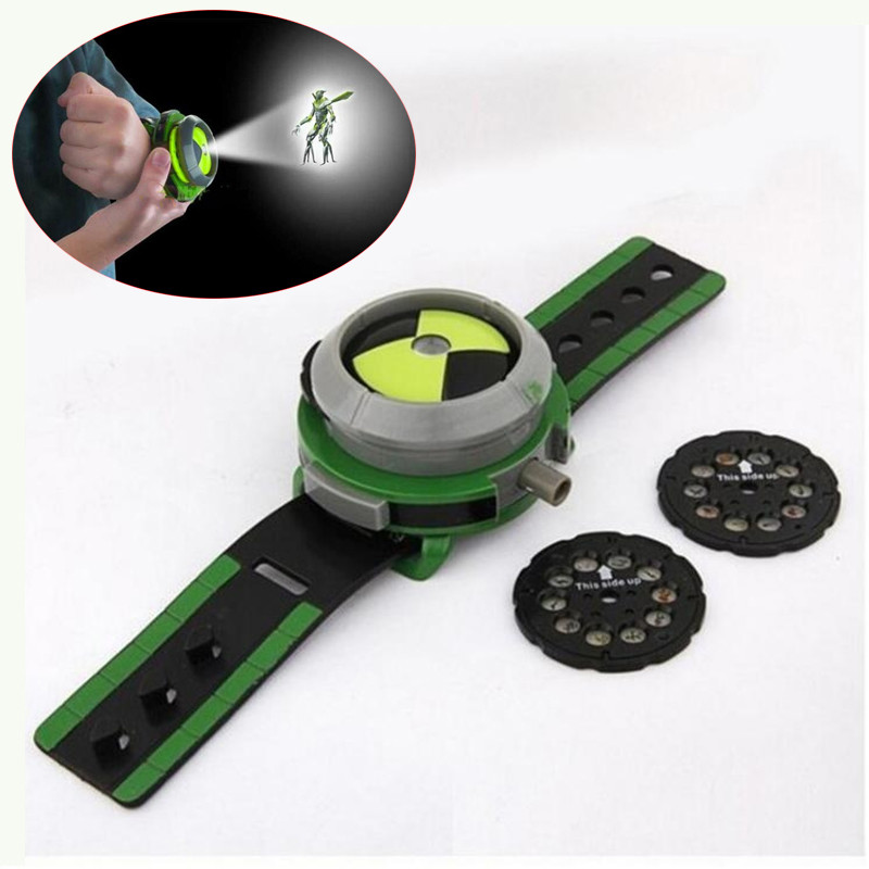 New Hot Anime Ultimate Omnitrix Watch Projector Ben 10 Alien Force And Mysterious Projection Action Toys Figures Model For kids new electronic wristband patrol dogs kids paw toys patrulla canina toys puppy patrol dogs projection plastic wrist watch toys