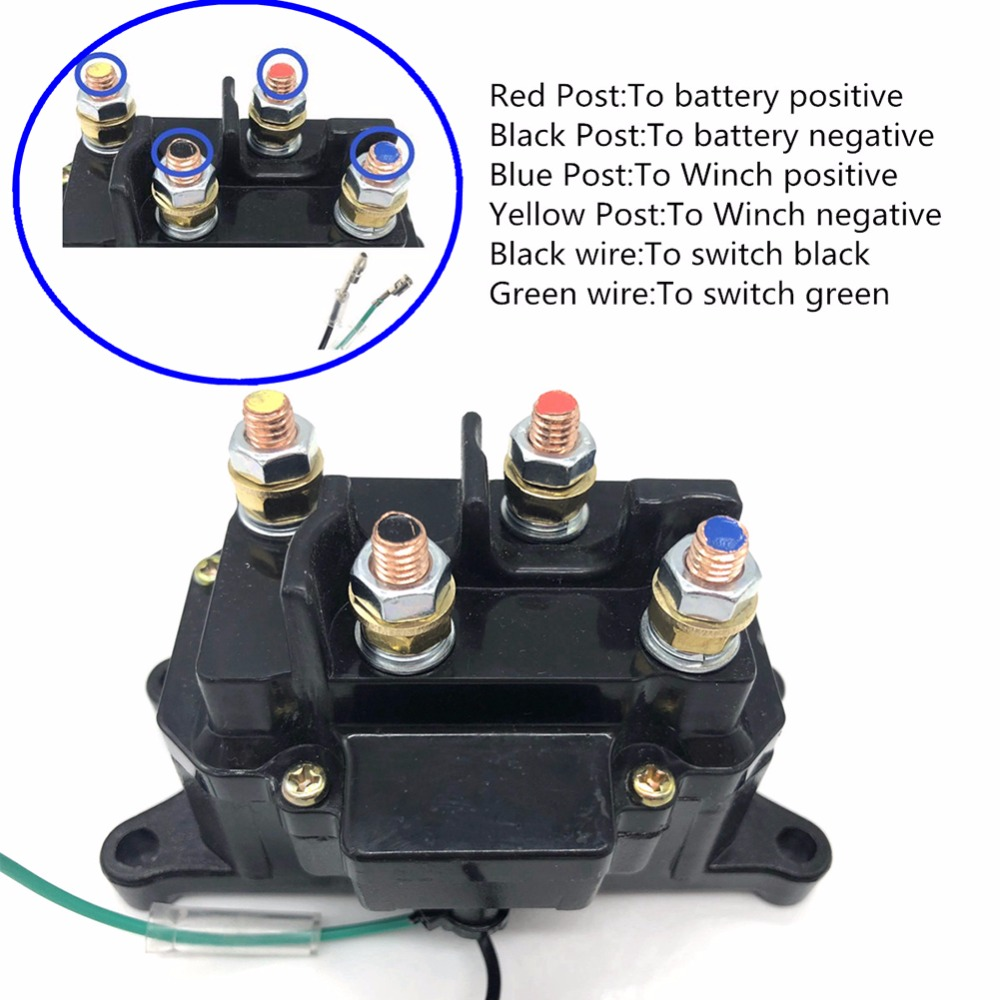 hight resolution of 1pc heavy duty winch relay contactor for atv ramsey warn superwinch champion winch in car switches relays from automobiles motorcycles on aliexpress com