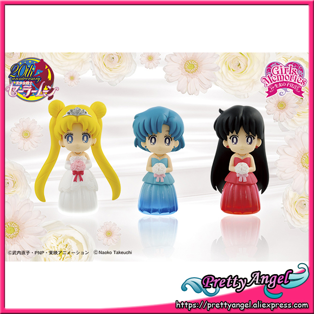 Original Banpresto 25th Anniversary Girls Memories Pretty Guardian Sailor Moon Stella Color Collection Vol.1 Figures Set of 3PCS high moon vol 01