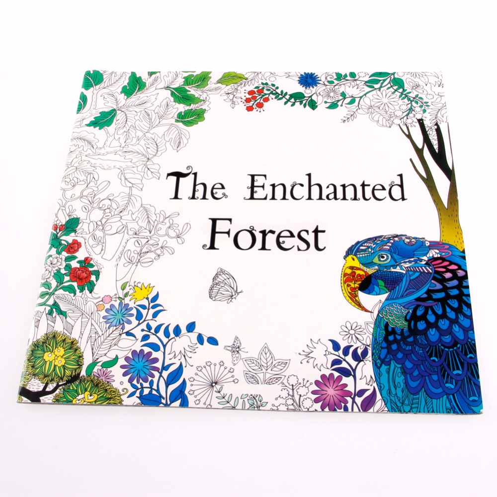 Coloring book for adults for pc - 1pc Colorful Craft Book English Adult Youngs Graffiti Gifts Books Coloring Book The Enchanted Forest