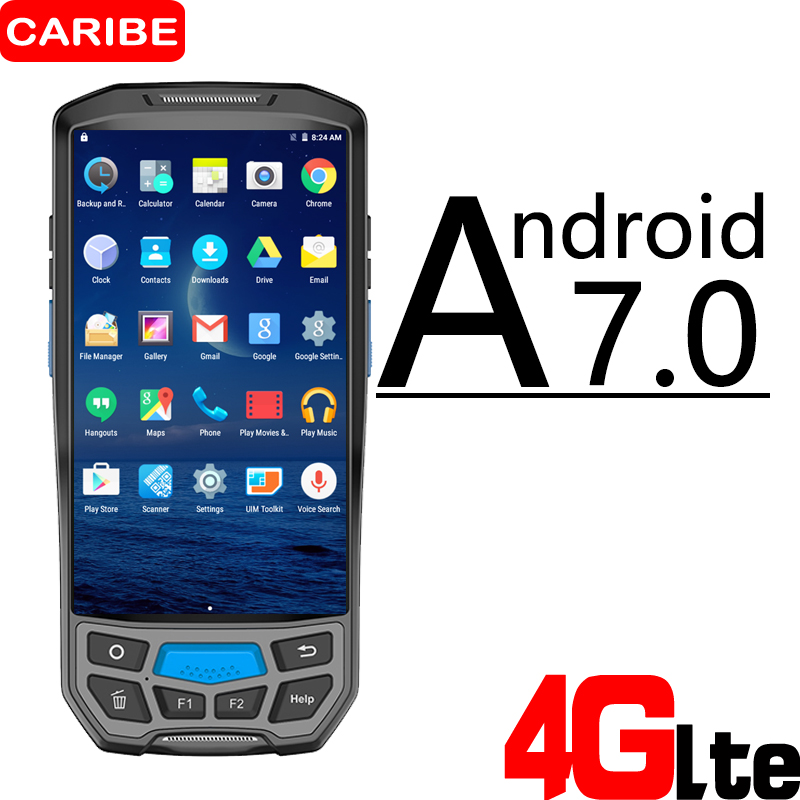 CARIBE PL-50L Wireless industrial warehouse stock management rugged mobile pda portable android handheld pda machine nl2432hc22 41k fit trimble pda screen and intermec pda