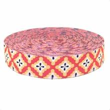 Zakka handmade accessories ribbon laciness 16mm orange vintage decorative pattern  Cartoon ribbon Jacquard Ribbon