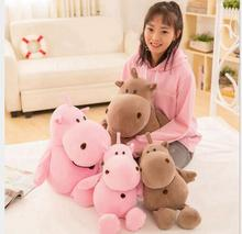 WYZHY soft hippo doll pillows plush toy sofa decoration to send friends and children gifts 50CM
