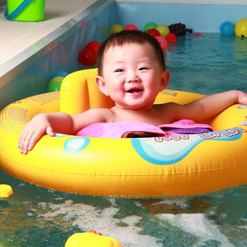 2017New Safety Babies Infant Seat Floats with Backrest My Baby Kids Swimming Pool Water Play Double Rings Float -17 BM88