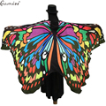 Gamiss Women Fashion Scarf Winter Pashmina Butterfly Wing Cape Scarf  Peacock Novelty Color Outerwear Casual Womens Long Scarf