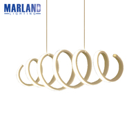 Modern Fashion Aluminum Minimalism DIY Hanging Modern Led Pendant Lights For Dining Room Bar Suspension Droping