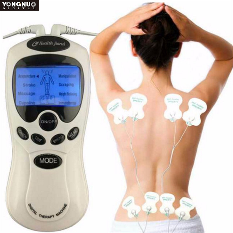 4 Electrode Health Care Tens Acupuncture Electric Therapy Massageador Machine Pulse Body Slimming Sculptor Massager Apparatus 4 electrode health care tens acupuncture electric blue lcd digital therapy machine pulse body slim sculptor massager apparatus