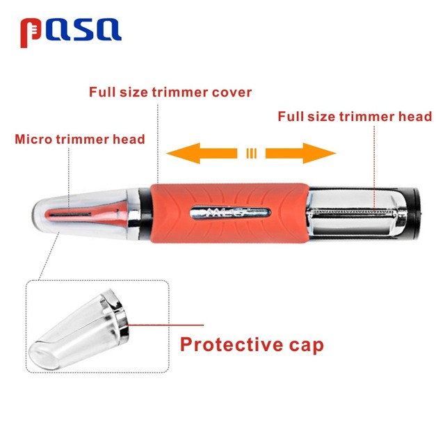 Micro Precision Eyebrow Ear Nose Trimmer Removal Clipper Shaver Unisex Personal Electric Face Care Hair Trimer With LED Light 3