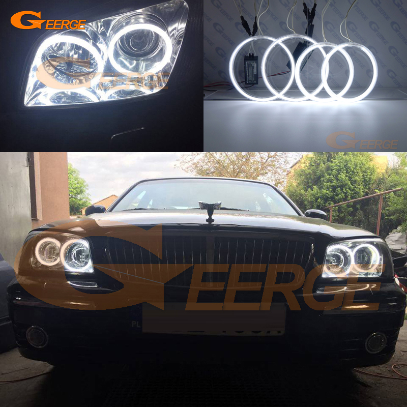 For Hyundai XG XG250 XG350 2003 2004 2005 Excellent angel eyes Ultra bright headlight illumination CCFL Angel Eyes Halo Ring kit for alfa romeo 147 2000 2001 2002 2003 2004 halogen headlight excellent ultra bright illumination ccfl angel eyes kit halo ring