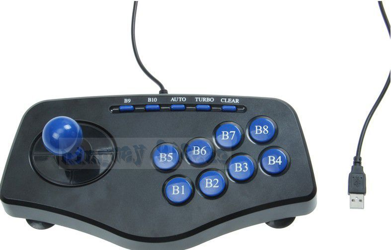 ! Digi-usb Shock Arcade-game Controller Joystick Game Pad PC Computer MAME Balck game enthusiasts - KINGWAY STORE store