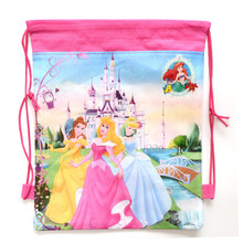 1 Pic children schoolbags Princess Drawstring Bags Cartoon For Girls & Boys multipurpose school backpack Christmas gifts 1515