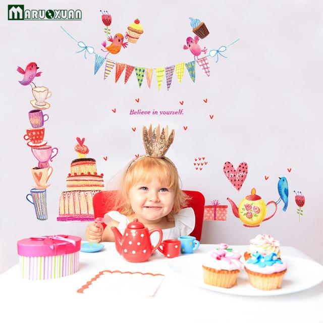 Maruoxuan Baby Birthday Cake Stickers Children Birthday Bakery Glass