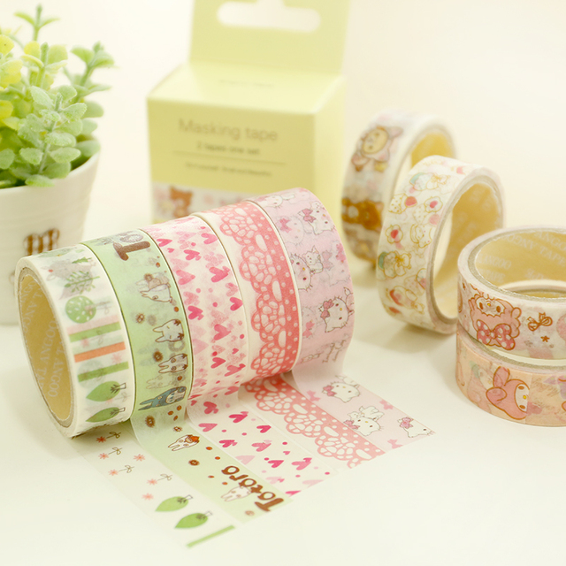 Sweet paper tape Cute lace Masking tapes Rilakkuma totoro kitty ...