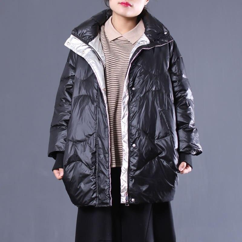 Lâche Bas Lyh2410 Le Blanc Manches 2018 Nouveau Femmes Manteau De Corée Duvet Mode Black Vers Femelle Plein Couleur Lyh2410 Canard blue Hiver hg Paquet Solide 71RwHqq