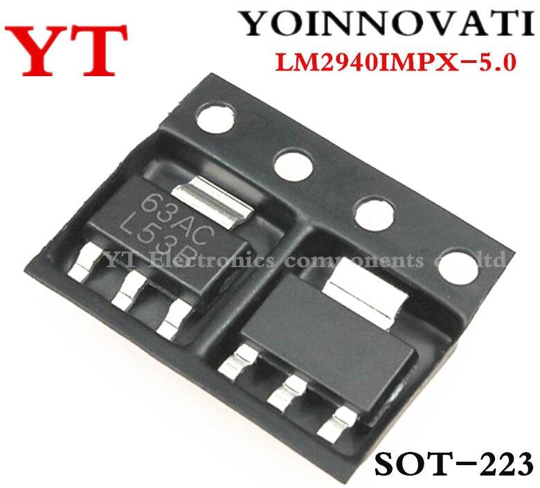 LOT OF 2 LM2940IMP-5.0//NOPB IC LINEAR VOLTAGE REGULATOR 5V 1A LDO SOT-223