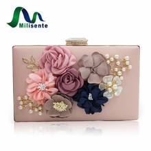Milisente 7 Colors Women Clutch Lady Flower Day Clutches Female Wedding Purses