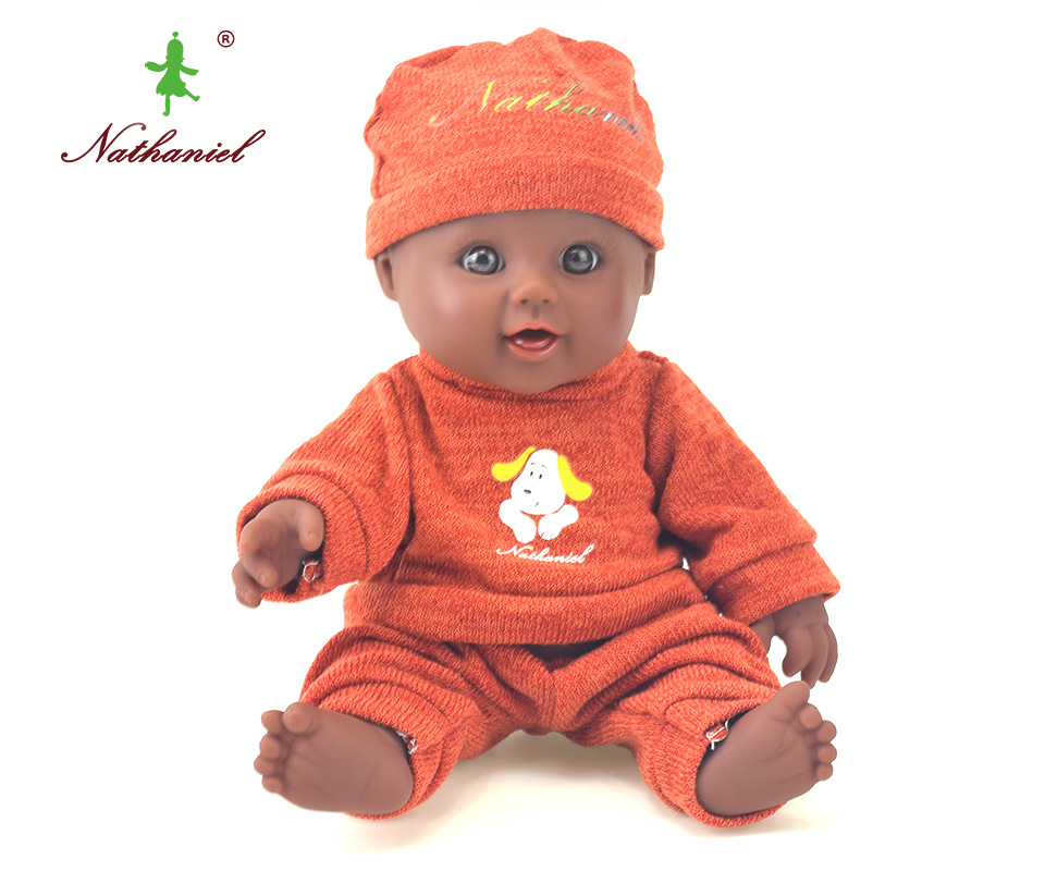 12inch sweater doll reborn lol baby lifelike newborn black boneca dolls baby soft toys toy girl kid gift Nathniel bathing
