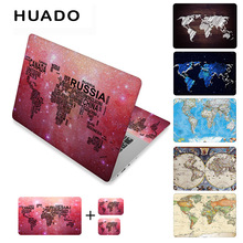World map laptop stickers 17 vinyl notebook skin 15.615 decals 1214computer sticker cover for mac air 13.3/asus/hp/lenovo