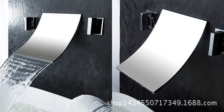 Kitchen faucet dark into the wall split basin hot and cold water faucet bathroom cabinet faucetKitchen faucet dark into the wall split basin hot and cold water faucet bathroom cabinet faucet