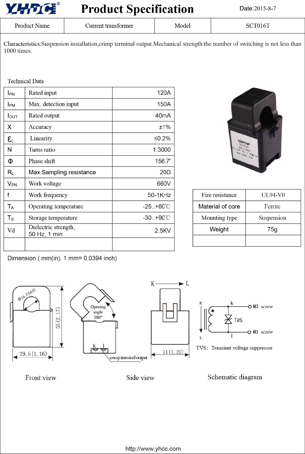 Current Transformer Size Ammeter Selector Switch Connection To Transformers And Yhdc Sct016t Split Core Ac Sensor Open