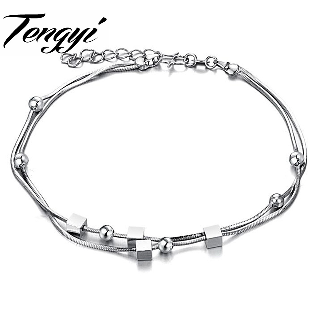 TENGYI Pretty White Gold Color Butterfly Anklet free shipping 202