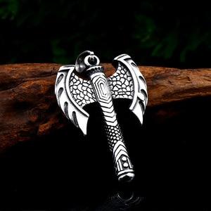 Ожерелье с подвеской BEIER, из нержавеющей стали 316, для открывания бутылок Rune Ax, подходит для мужчин, ювелирных изделий в подарок, wholesaleBP8-406