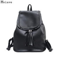 Naivety drop shipping Vintage Tassel Women Backpack Girls Weaving School Shoulder Bag Soft Fashion Bags 28S7710