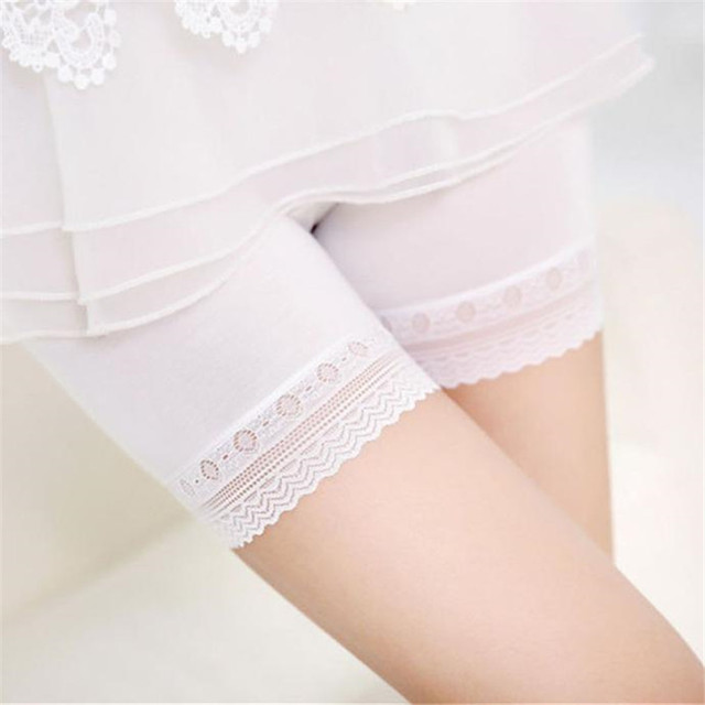 7820a40b07f85 2018 Summer The Best Hot Women Lace Safety Short Pants Summer Under Skirt  Shorts Breathable Short Tights For Dress 8709