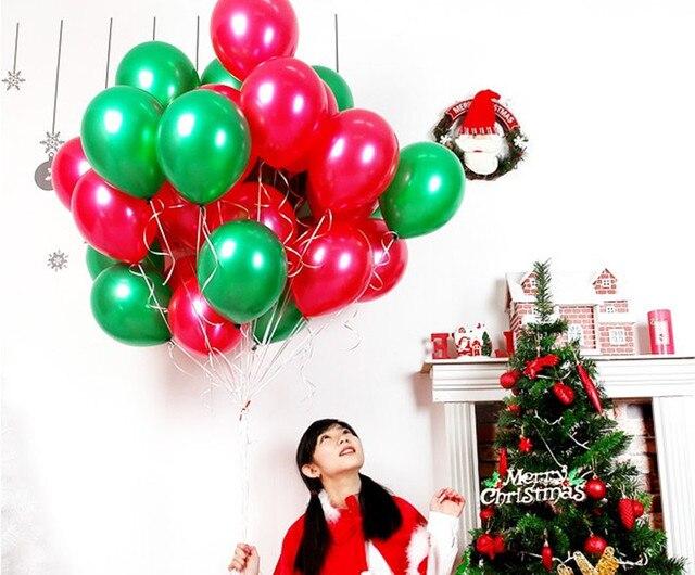 300 stücke Frohe Weihnachten Latex Luftballons Grün Rot 12 zoll ...