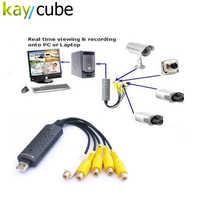 4 kanal USB Video Capture Card DVR Für CCTV Kamera Monitor DVD 4CH Usb Dvr Karten Bord Zu VHS Video aufnahme PAL/NTSC