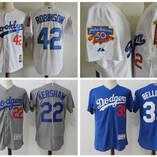 e925e104849 Men s Dodgers 2017 high quality Stitched Jackie Robinson Cody Bellinger Clayton  Kershaw baseball Jerseys(China