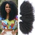 Cara brasileiro virgem cabelo Kinky Curly 3 pçs/lote extensão do cabelo humano cor Natural virgem Afro brasileiro Kinky Curly cabelo tece