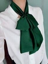 Женщины длинные шелковые шарфы чистый шарф атласный для бизнеса элегантный вечернее дамы шея голова ремня шейный платок