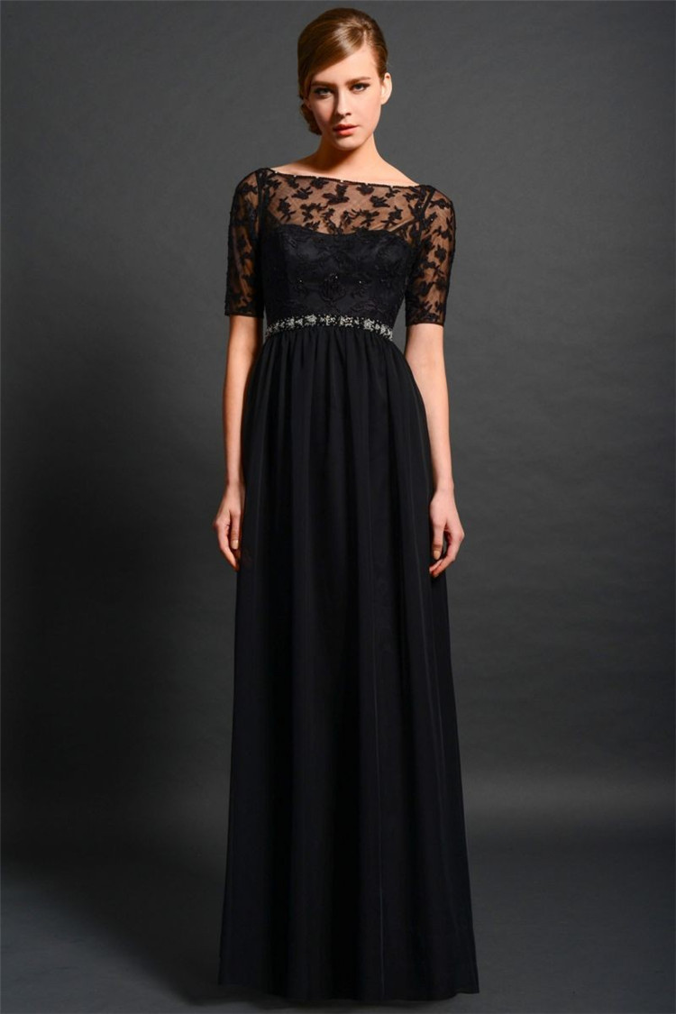 Mother Of The Bride Outfits 2016: H007 Lace Elegant Black Mother Of The Bride Dresses Plus