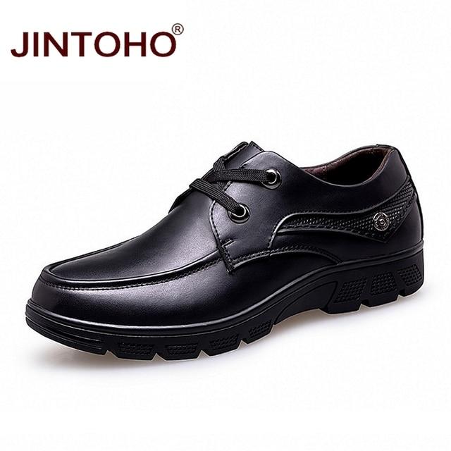 cabfbcddf JINTOHO Tamanho Grande 37-50 Mens Vestir Sapatos De Couro Italiano de Luxo  Da Marca