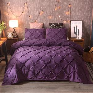 Image 5 - White Duvet Cover Set Pinch Pleat 2/3pcs Twin/Queen/King Size Bedclothes Bedding Sets Luxury Home Hotel Use(no filling no sheet)