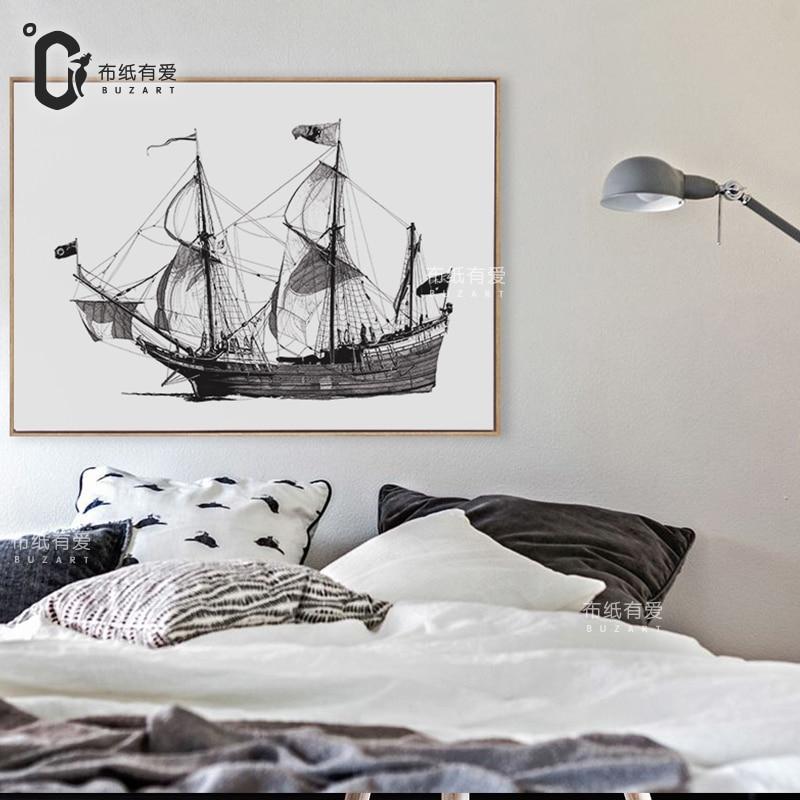 Veliki brod Moderno platno Moderna slika zidni dekor krajolik Slika - Kućni dekor - Foto 3