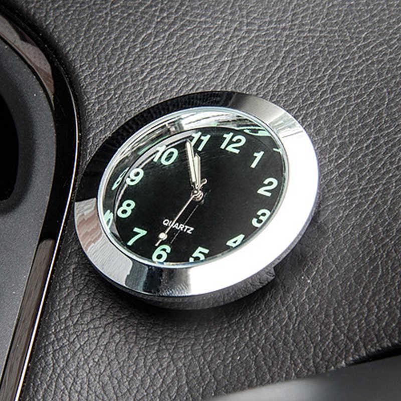 EAFC reloj de cuarzo con ventilación de aire para coche, Mini puntero Digital luminoso, decoración elegante