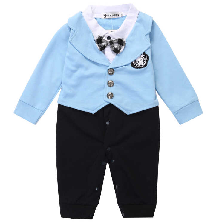 dd58264b188a ... Baby Boy Gentleman Bow Party Suit Jumpsuit Rompers Fashion Clothing  Formal Formal Kid Infant Spring Summer ...