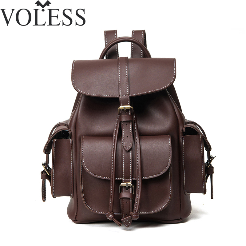2016 Famous Brand Bag Women Backpack Famale England Style Designer High Quality Pu Leather Backpack Men Sac a Dos Black high quality iron wire frame sun glasses women retro vintage 51mm round sn2180 men women brand designer lunettes oculos de sol